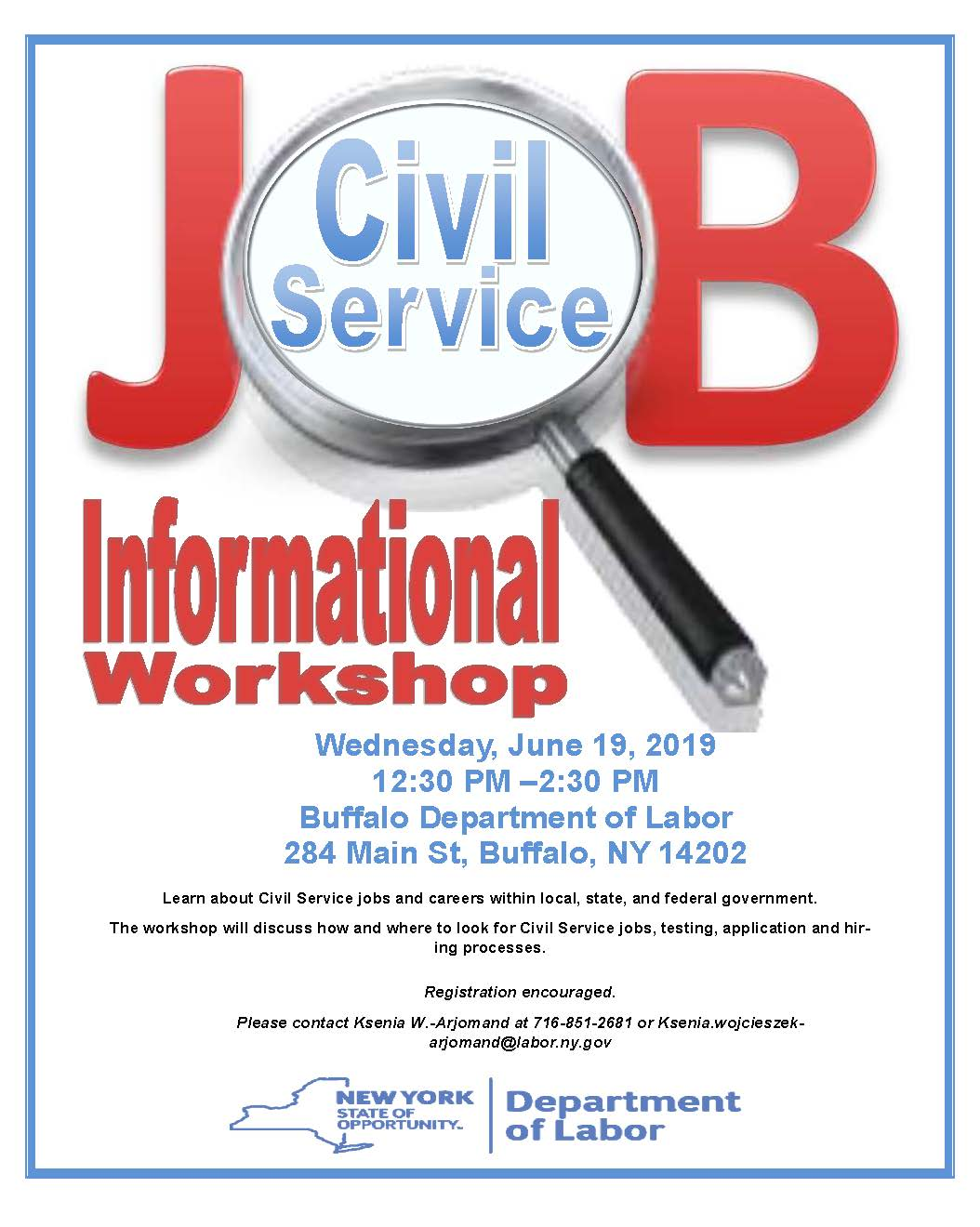 Civil Service Informational Workshop